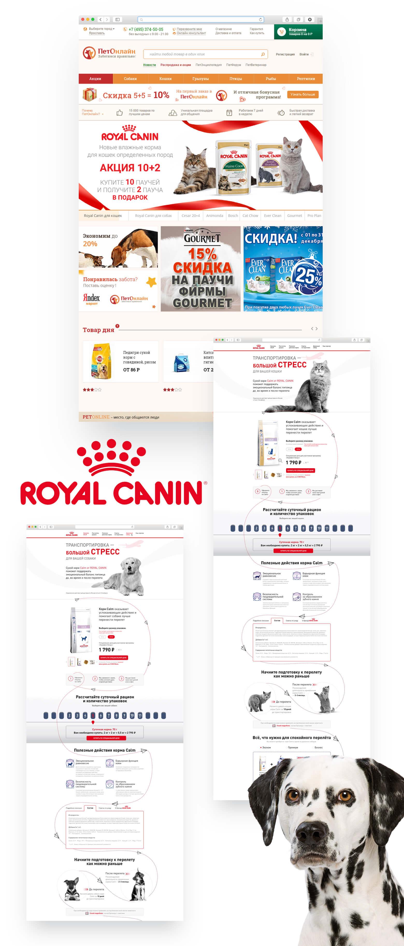 f2ade1e84514 Поддержка и развитие бренд-зон компании Royal Canin на корпоративном сайте  и сайтах партнеров